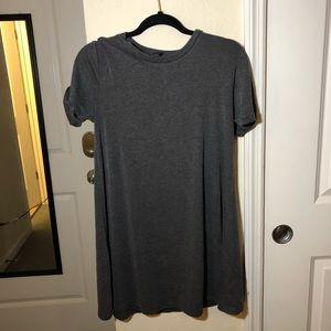 Basic Gray T Shirt Dress